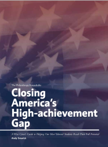 Closing America's High Achievement Gap